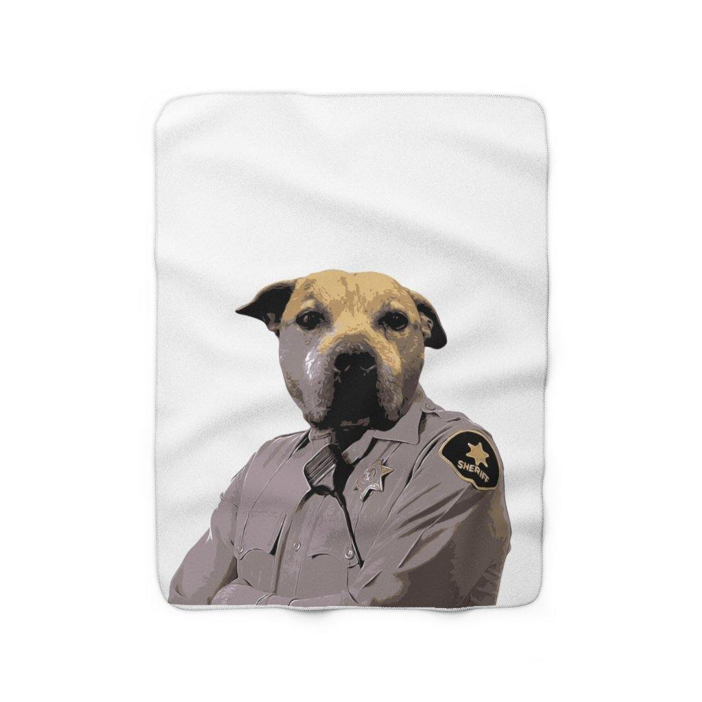 SquishyFacedCrew™ 'THE Sheriff!' Sherpa Fleece Blanket