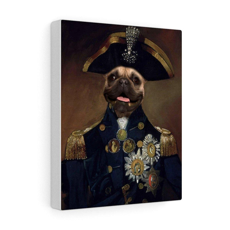 SquishyFacedCrew™ 'The Commander' Custom Pet Canvas - SquishyFacedCrew