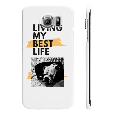 Wpaps Slim Phone Cases | Living My Best Life British Bulldog - SquishyFacedCrew