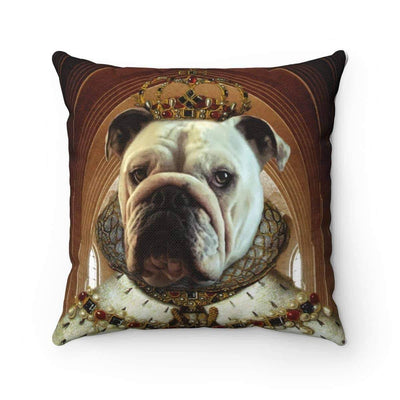 SquishyFacedCrew™ Personalised Renaissance Style Square Pillow Featuring Your Pet
