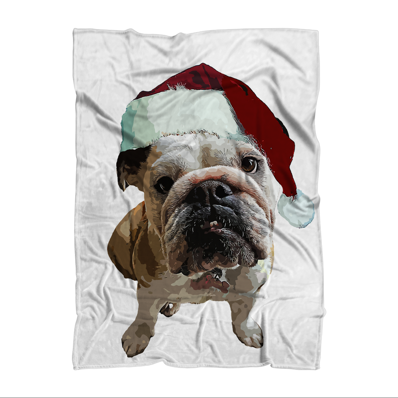 SquishyFacedCrew™ Santa's Hat Premium Sublimation Adult Blanket