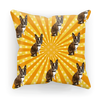 SquishyFacedCrew™ Pop Art Pattern Featuring Your Pet (PERSONALISED) W/ Hundreds of Background Options Sublimation Cushion Cover