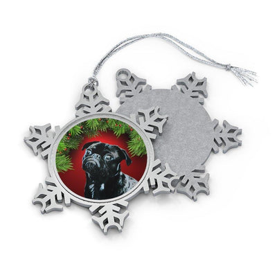 SquishyFacedCrew Personalised Pet Snowflake Ornament