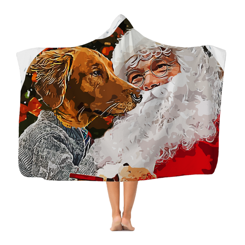 Santa Paws Premium Adult Hooded Blanket