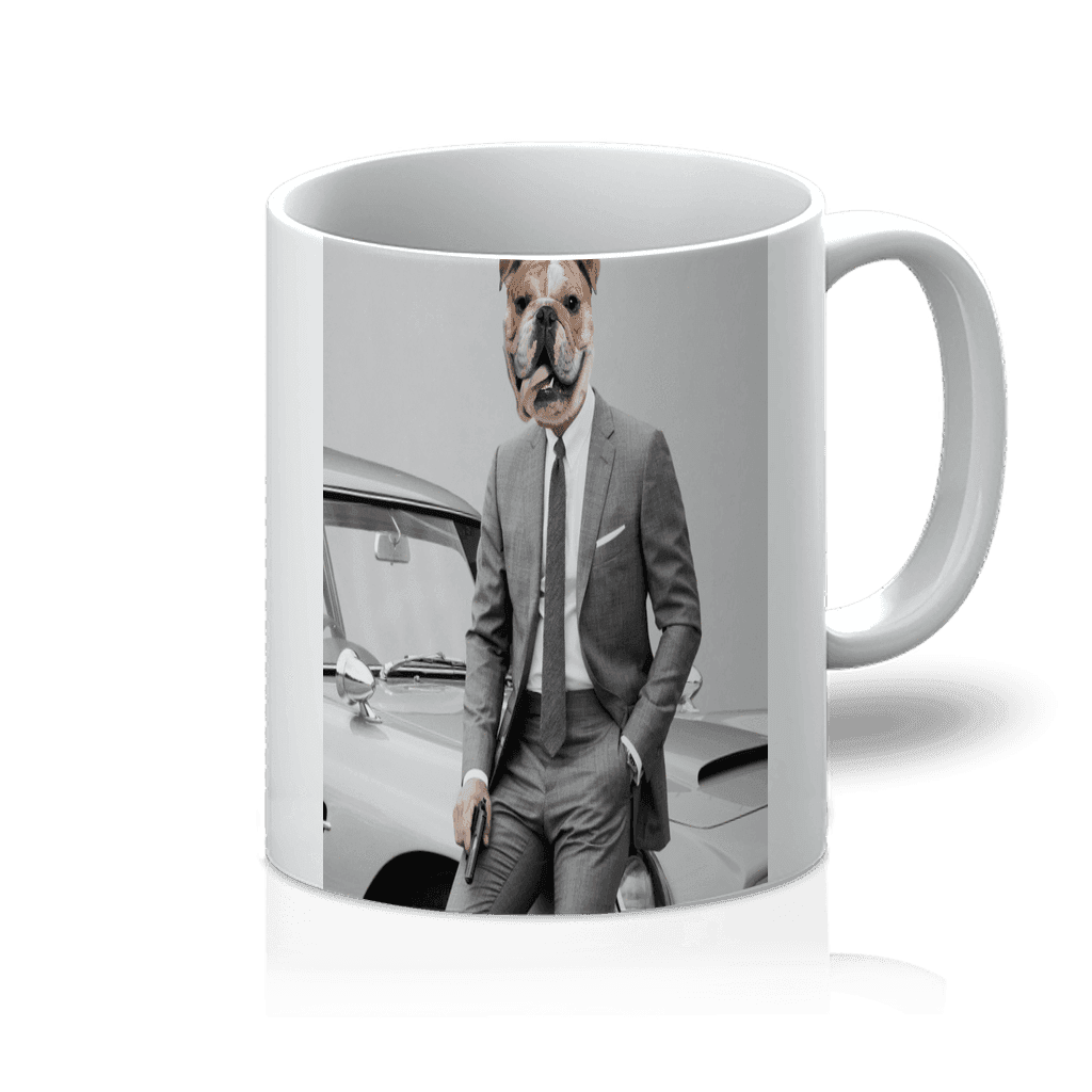 SquishyFacedCrew™ 'James Bond' Featuring Your Pet (PERSONALISED) - Make your Pet Into 007! 11oz Mug - SquishyFacedCrew