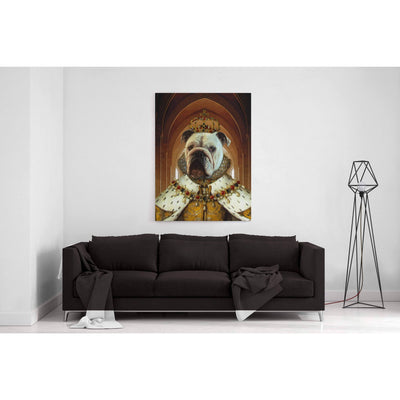SquishyFacedCrew™ Renaissance 'The Queen' Personalised Canvas Featuring Your Pet