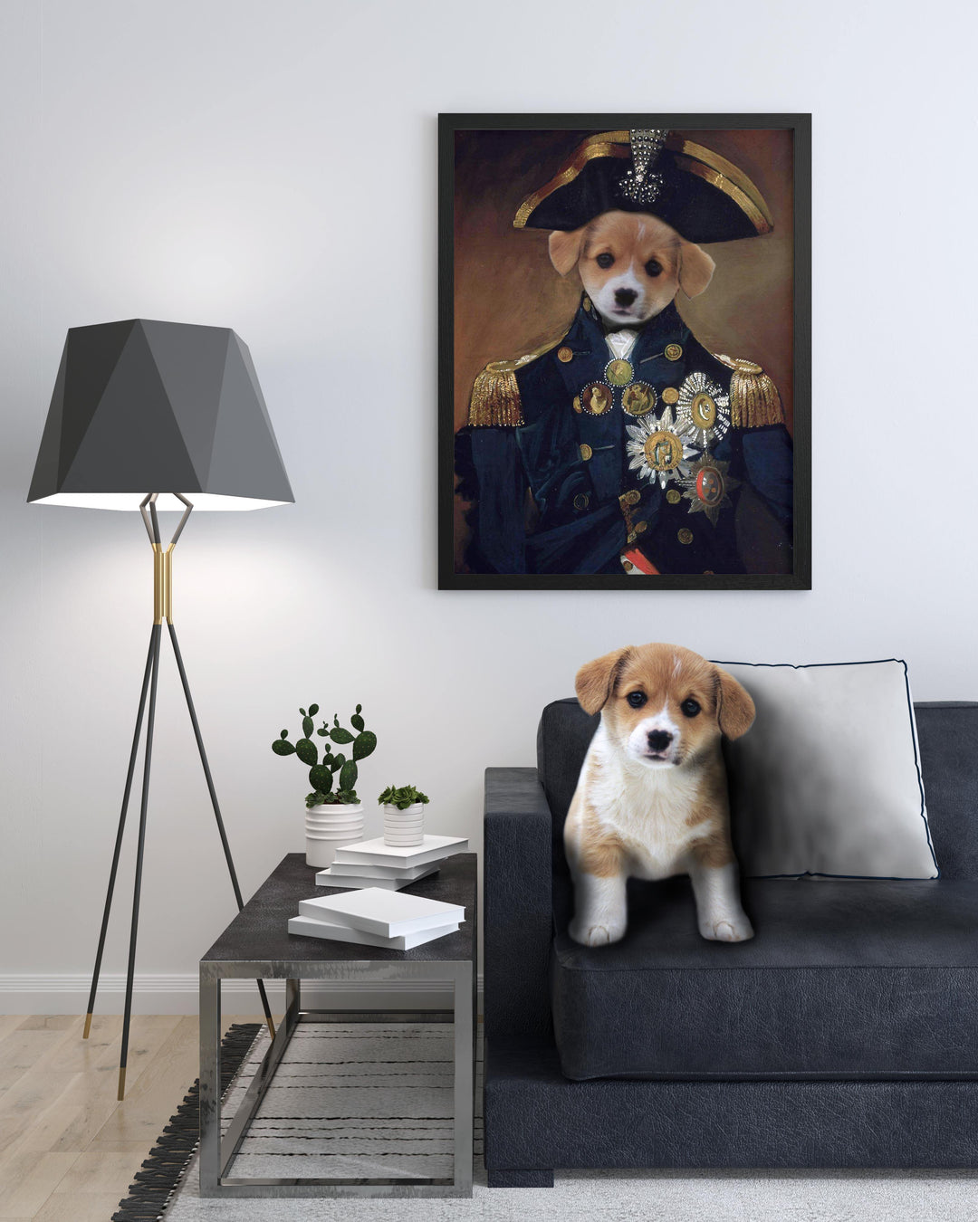 SquishyFacedCrew™ 'The Admiral' Custom Pet Canvas