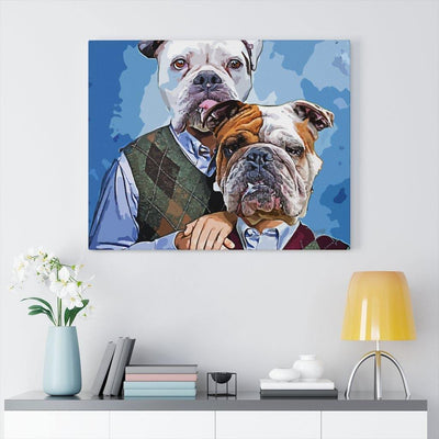 SquishyFacedCrew™ 'THE AWKWARD STEP BROS!' Custom Pet Canvas