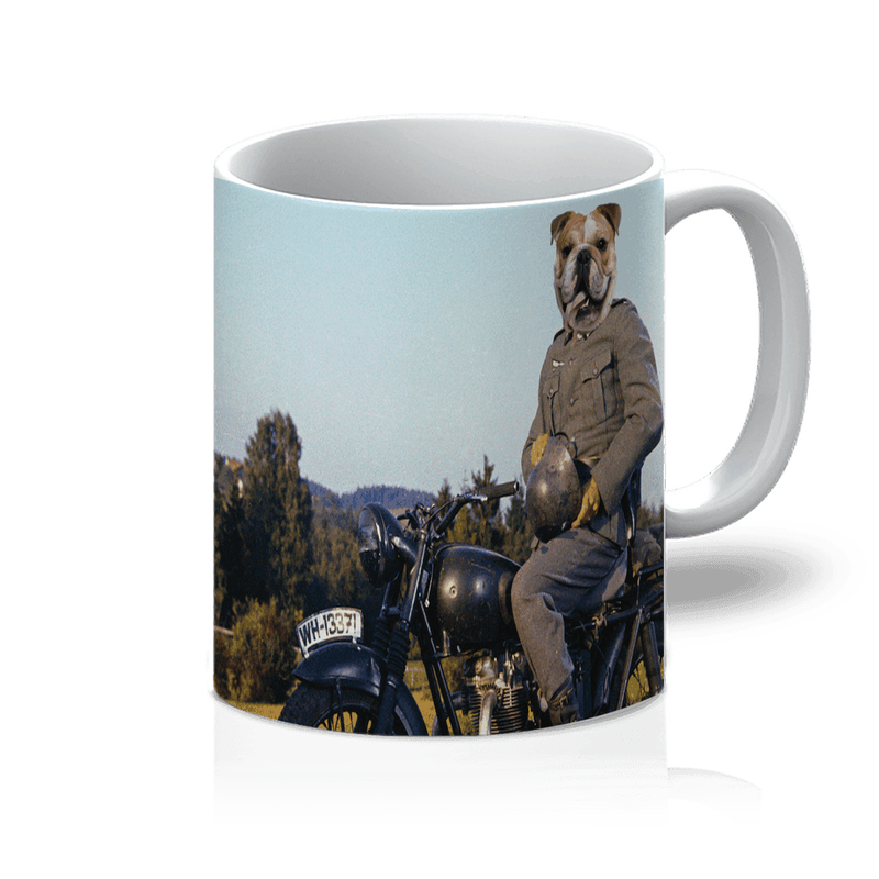 SquishyFacedCrew™ 'Steve McQueen' Featuring Your Pet (PERSONALISED) - Make your Pet Into A Movie Star! 11oz Mug