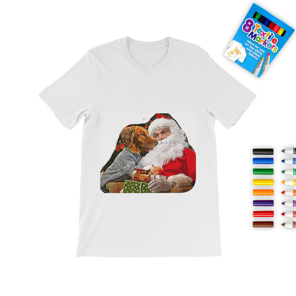 Santa Paws Colouring T-Shirt