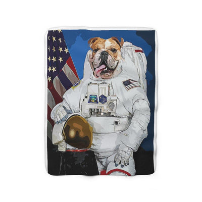 SquishyFacedCrew™ 'ASTROMUTT!' Sherpa Fleece Blanket - SquishyFacedCrew