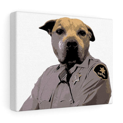 SquishyFacedCrew™ 'THE SHERIFF!' Personalised Canvas