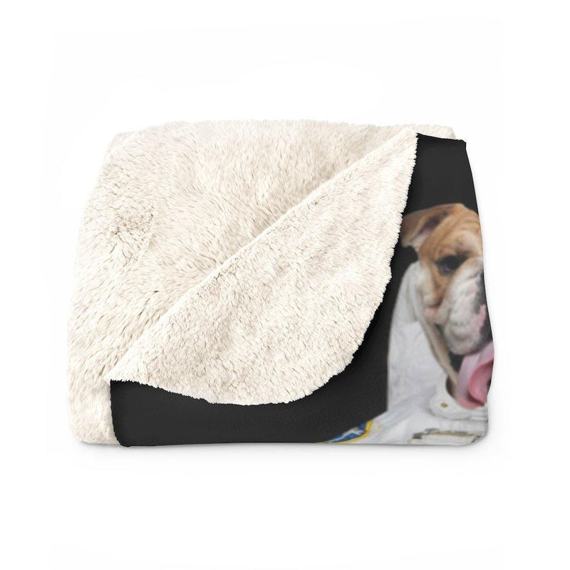 SquishyFacedCrew™ Sherpa Fleece Blanket