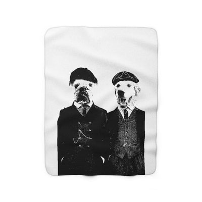 SquishyFacedCrew™ 'PEAKY BLINDERS!' Sherpa Fleece Blanket - SquishyFacedCrew