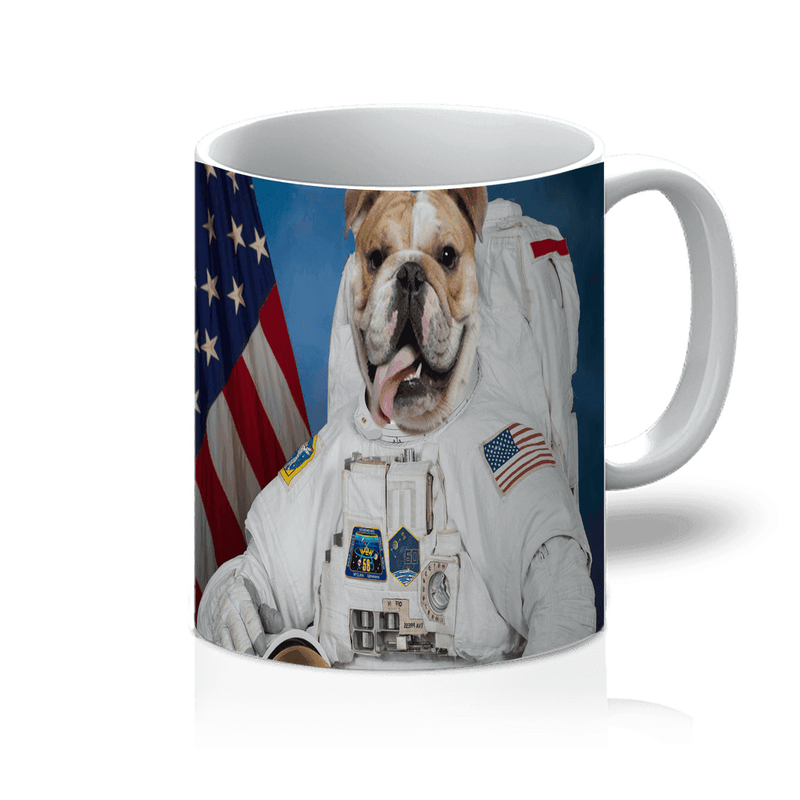 SquishyFacedCrew™ 'The Astronaut' Featuring Your Pet (PERSONALISED) - Make your Pet Into An Astronaut! 11oz Mug