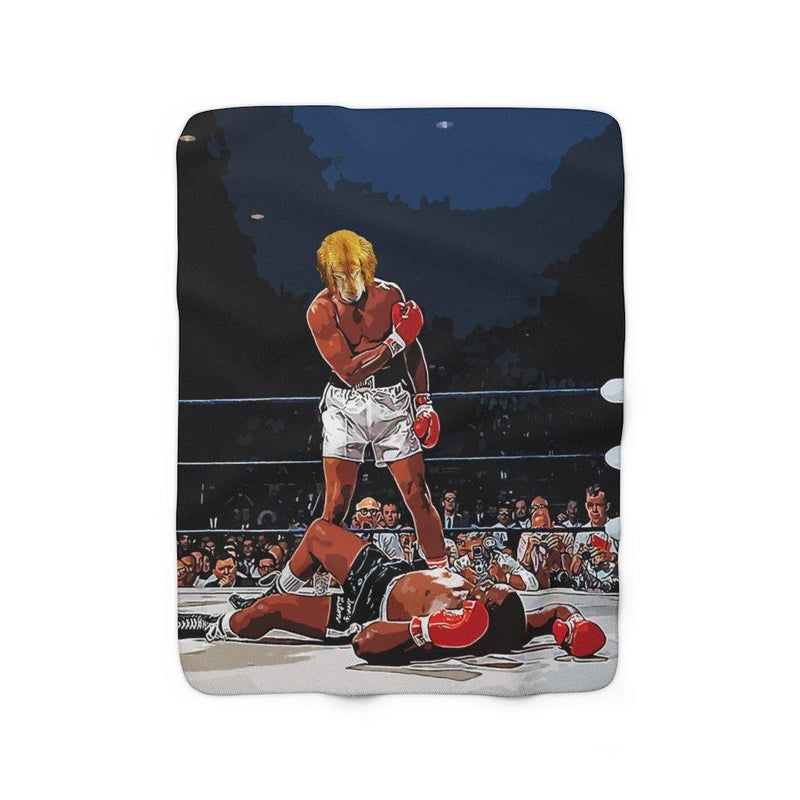 SquishyFacedCrew™ 'THE BOXER!' Sherpa Fleece Blanket