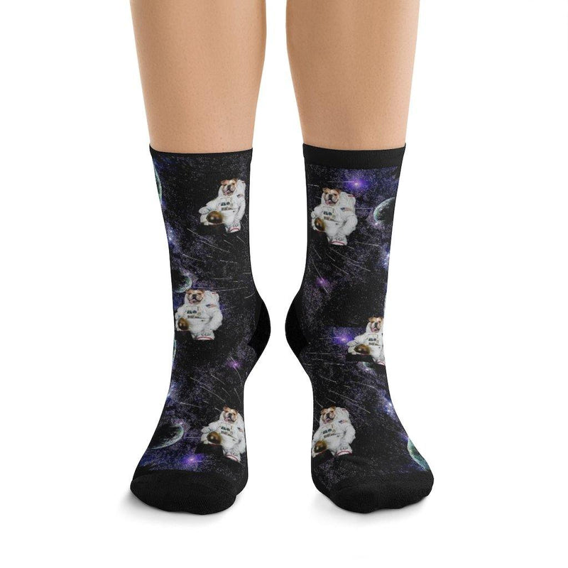 SquishyFacedCrew™ Custom 'Astronaut' Socks Featuring Your Pet