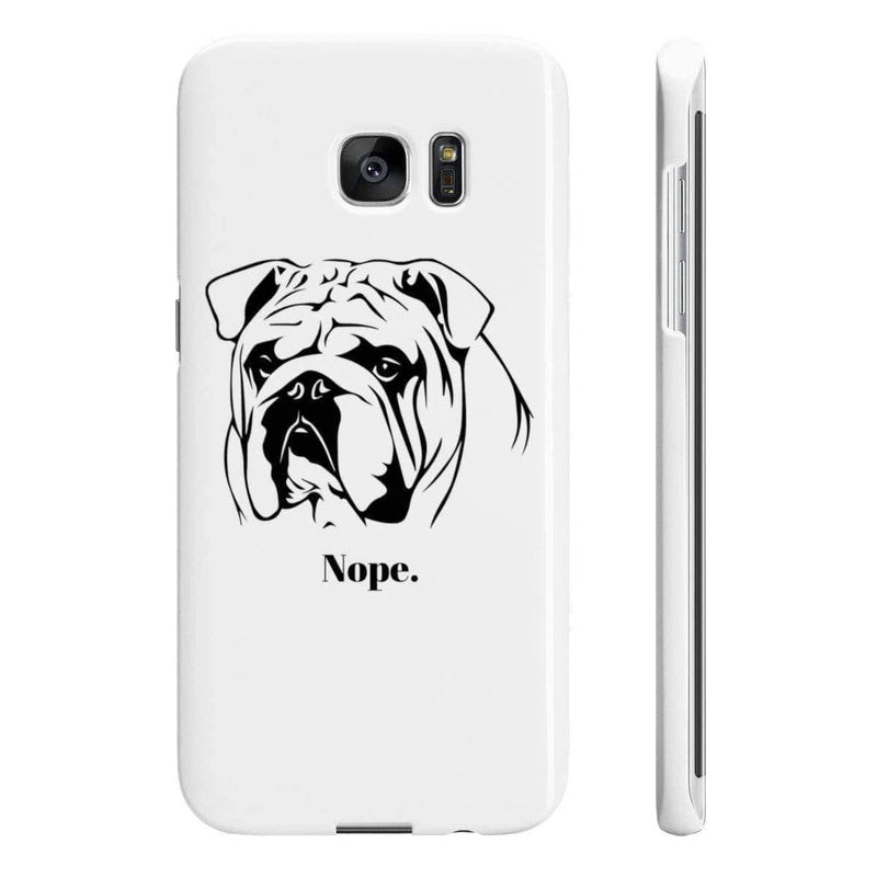 Wpaps Slim Phone Cases | Nope British Bulldog - SquishyFacedCrew