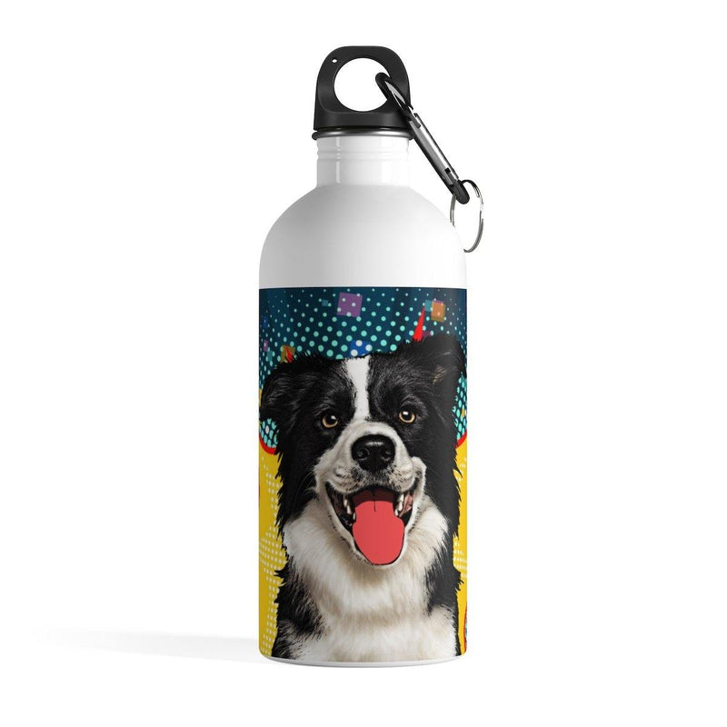 SquishyFacedCrew™ Personalized Pop-Art Stainless Steel Water Bottle