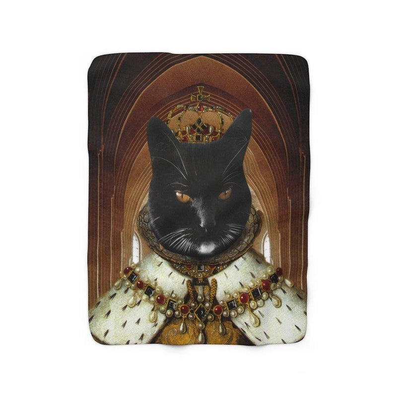 SquishyFacedCrew™ 'THE QUEEN!' Sherpa Fleece Blanket