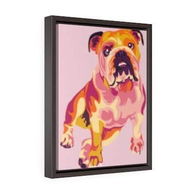 SquishyFacedCrew™ Custom Pop Art Vertical Framed Canvas