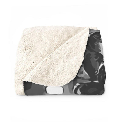 SquishyFacedCrew™ 'THE ROCKER!' Sherpa Fleece Blanket