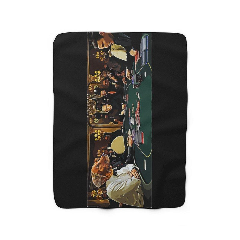 SquishyFacedCrew™ 'THE GAMBLER!' Sherpa Fleece Blanket