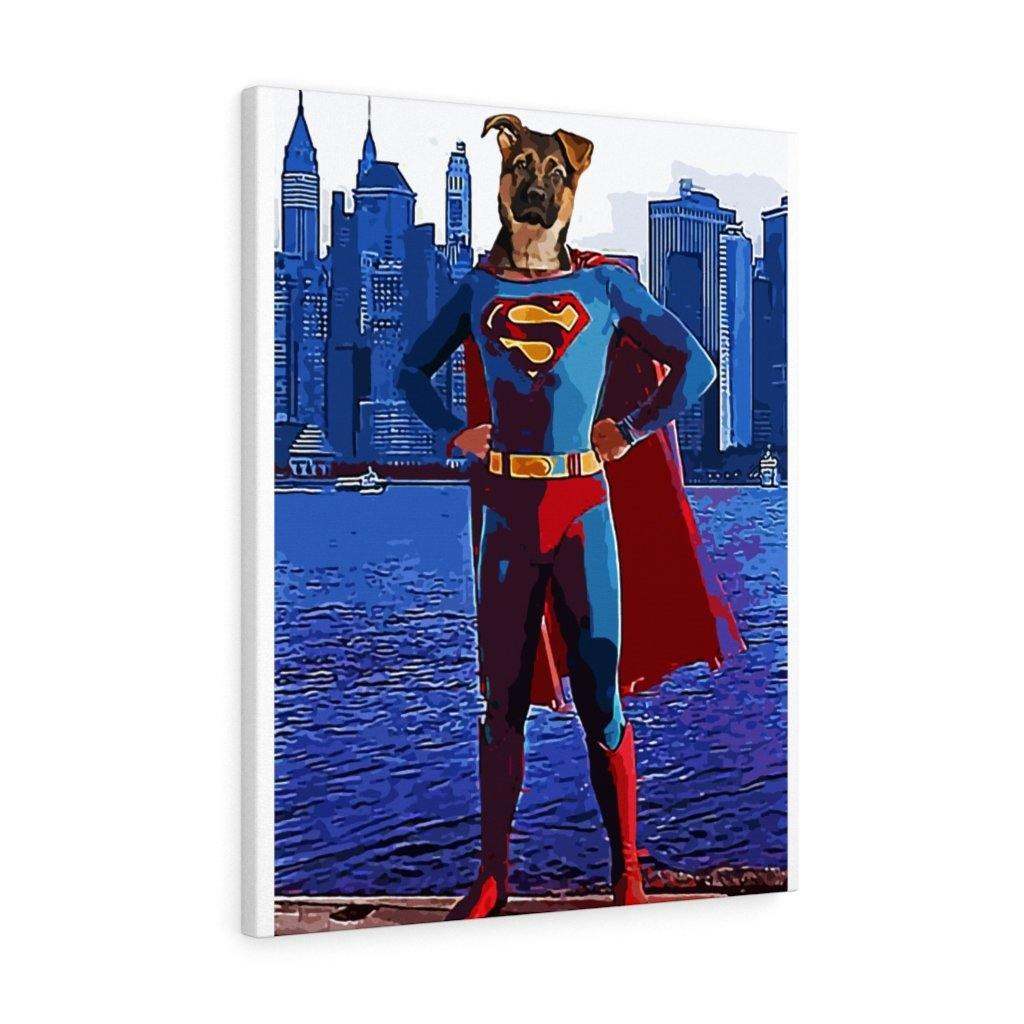 SquishyFacedCrew™ 'SUPERPAWS!' Personalised Pet Canvas