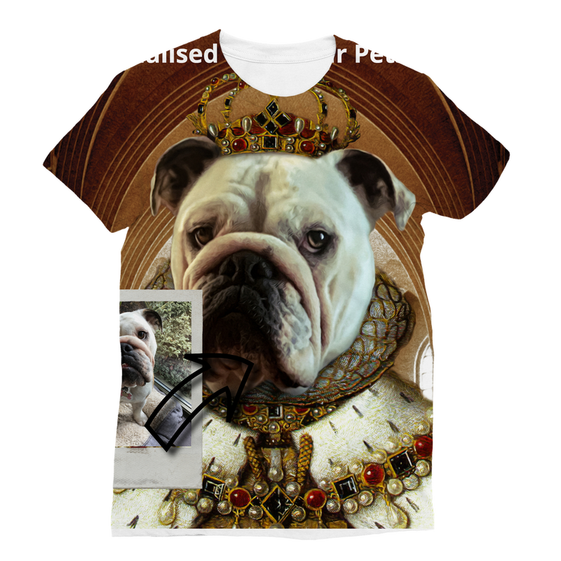 SquishyFacedCrew™ Renaissance Art Featuring Your Pet Classic Sublimation Women's T-Shirt
