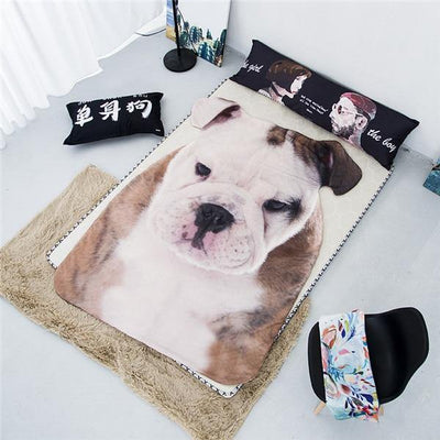 SquishyFacedCrew™ 3D Pet Shaped Blanket!