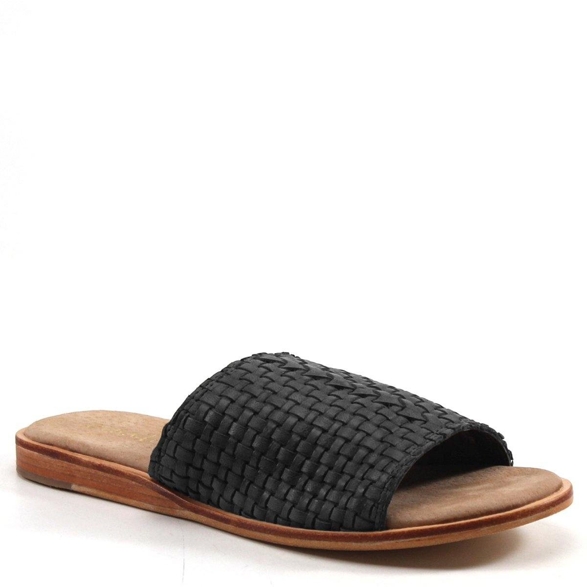 Slip into elegance and comfort with the JUMP UP slide sandals. Including a trendy woven leather upper, padded insole, and barely-there .5 inch heel, these shoes are the epitome of easy, breezy style.