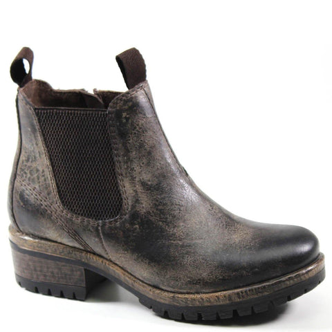 Diba True Women's Say So Ankle Chelsea Boot in Charcoal Vintage Leather