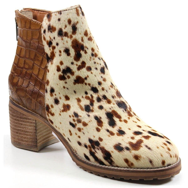 Diba True Women's Kam Den Multi Media Animal Print Ankle Bootie Profile