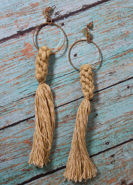 Macrame Fringe Earrings-More Colors! Accessories by DibaTrue