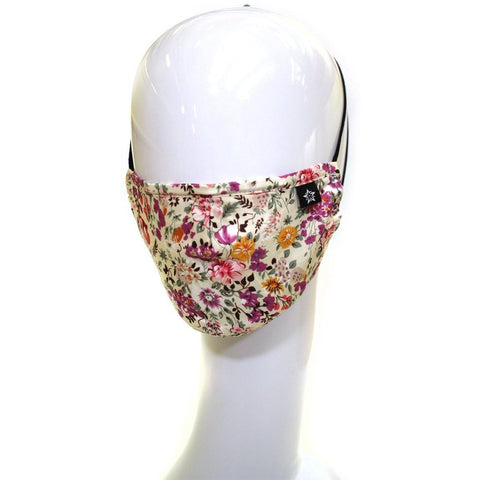 Purple Flower Fashion Face Mask