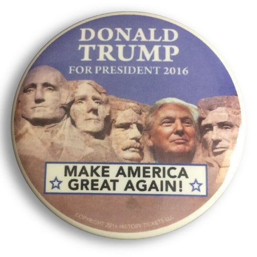 "2016 Donald Trump Make America Great Again Mt. Rushmore - 2.25"" Button"