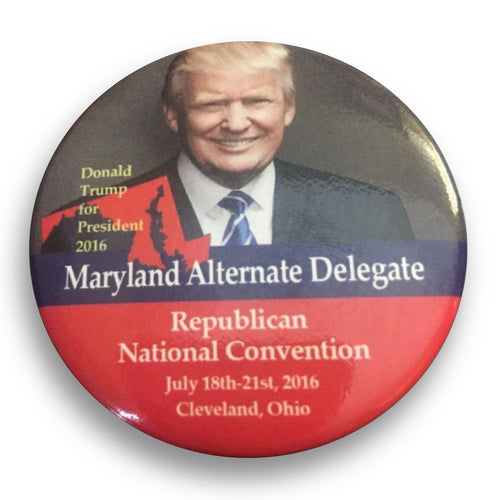 "2016 Republican National Convention Maryland Donald Trump Alternate Delegate - 2.25"" Button"
