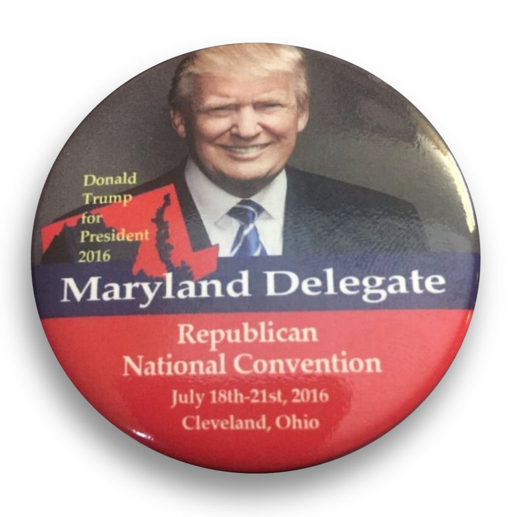 "2016 Republican National Convention Maryland Donald Trump Delegate - 2.25"" Button"