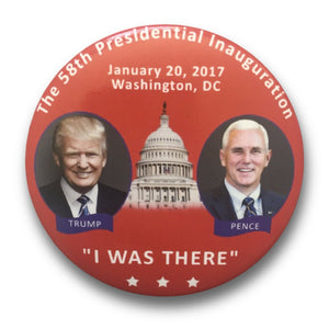 "2017 President Donald Trump Inauguration: Trump-Pence Jugate ""I Was There"" - 3"" Button"