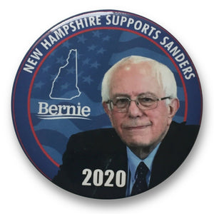 "2020 Bernie Sanders for President New Hampshire Supports Sanders - 3"" Button"