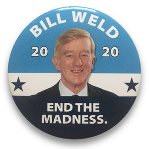 "2020 Bill Weld for President - 3"" Button"