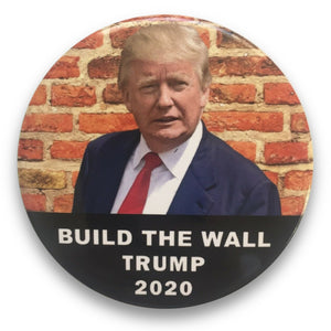 "2020 Donald Trump Build the Wall - 3"" Button"