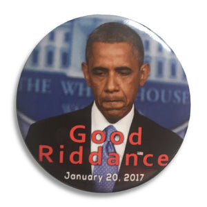 "2017 Anti-Obama Good Riddance Donald Trump Inauguration - 3"" Button"
