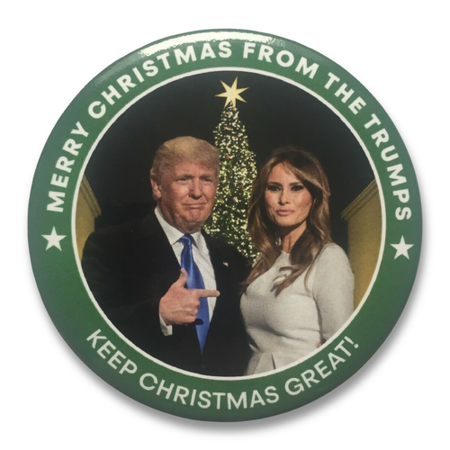 Button Text: Merry Christmas From The Trumps - Keep Christmas Great!