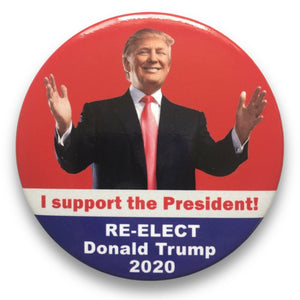 "2020 Donald Trump I Support the President - 3"" Button"