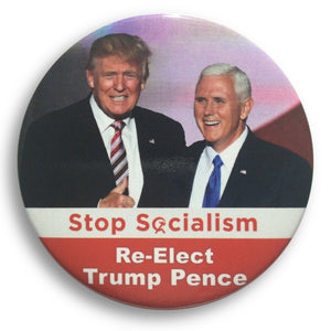 "2020 Donald Trump Stop Socialism - 3"" Button"