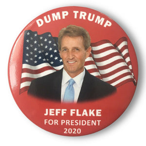 "2020 Jeff Flake ""Dump Trump"" - 3"" Button"