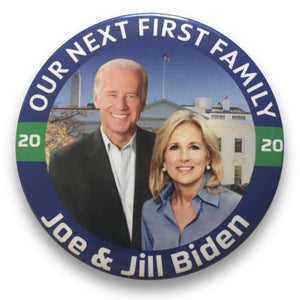 "2020 Joe Biden & Jill Biden First Family - 3"" Button"