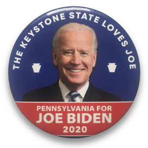 "2020 Joe Biden for President Pennsylvania ""The Keystone State Loves Joe"" - 3"" Button"