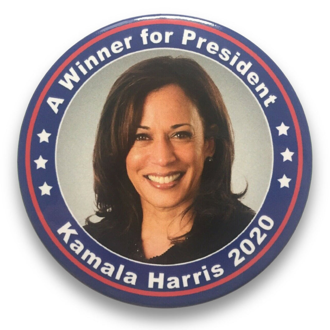 "2020 Kamala Harris A Winner for President - 3"" Button"